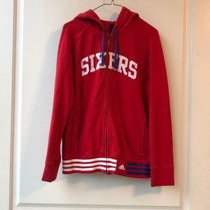 76ers adidas zip up